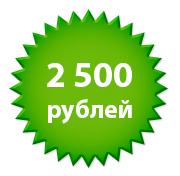 2500 рублей